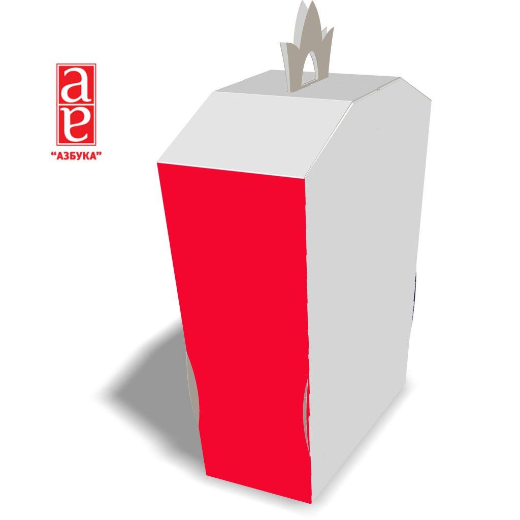 коробка с ручкой 128х56х180 мм.