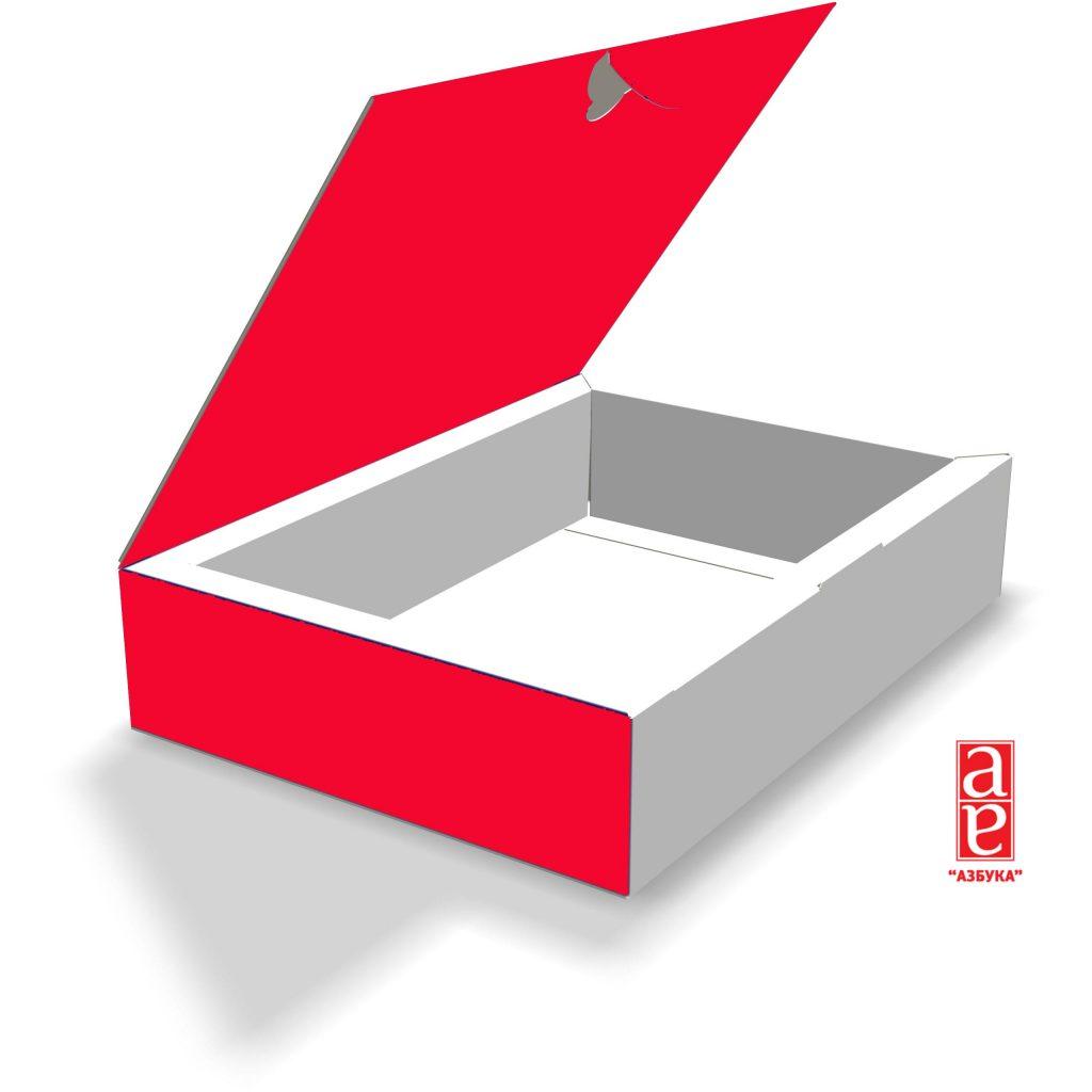 коробка с крышкой и замком 168x120x36 мм.