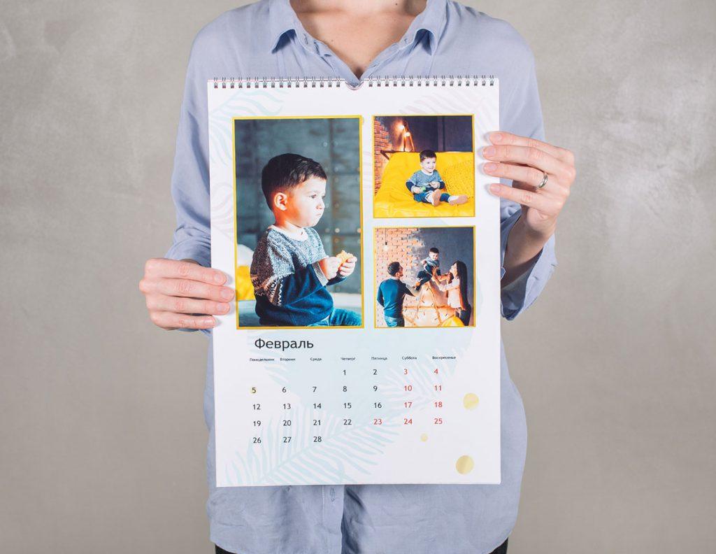 рекламный перекидной календарь