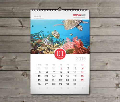 Перекидной настенный календарь А3