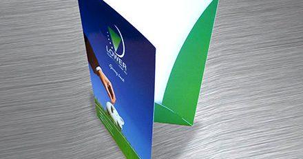 Папки для презентаций картонные