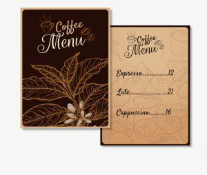 печать меню для кафе