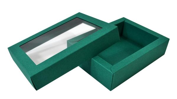 коробка крышка-дно с прозрачным окном