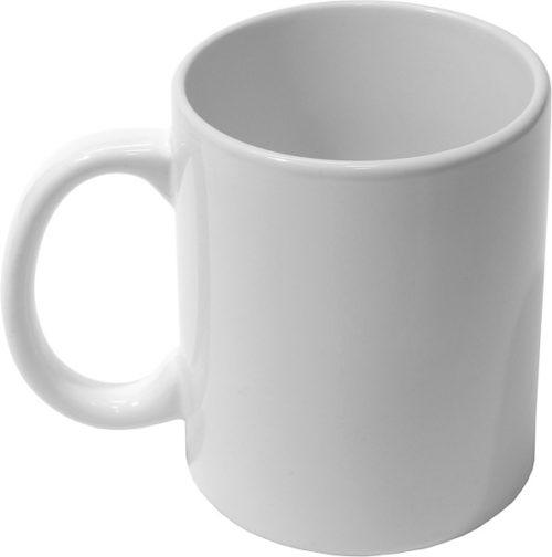 нанесение логотипа на белой чашке