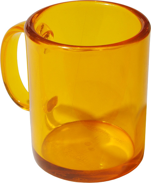 Недорогая чашка пластиковая прозрачная желтая для акций