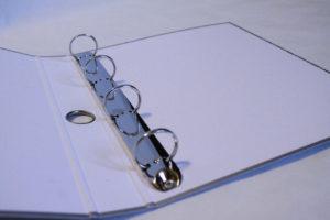 Папки на кільцях. O-подібний механізм на 4 кільця