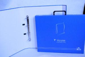 папка-чемодан з кільцями для зразків