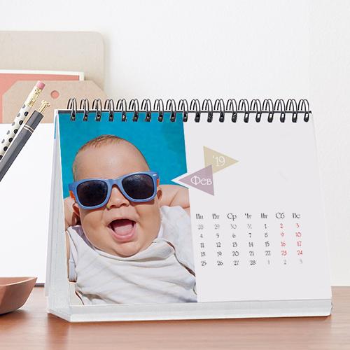 Перекидний календар на стіл з рекламою
