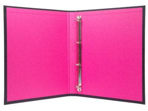 папка кільцева з рожевим форзацем сегрегатор на 4 кільця