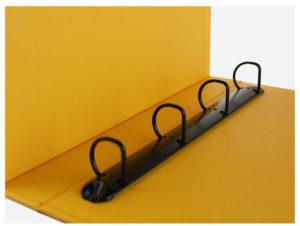 папка на кільцях з жовтим форзацем сегрегатор на 4 кільця